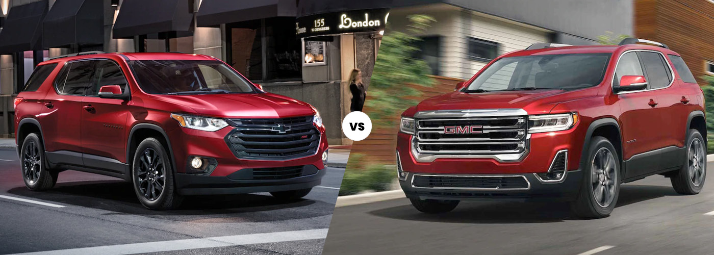 2021 Chevy Traverse vs. 2021 GMC Acadia