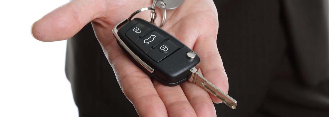 a car owner learning how to program a Chevy key FOB