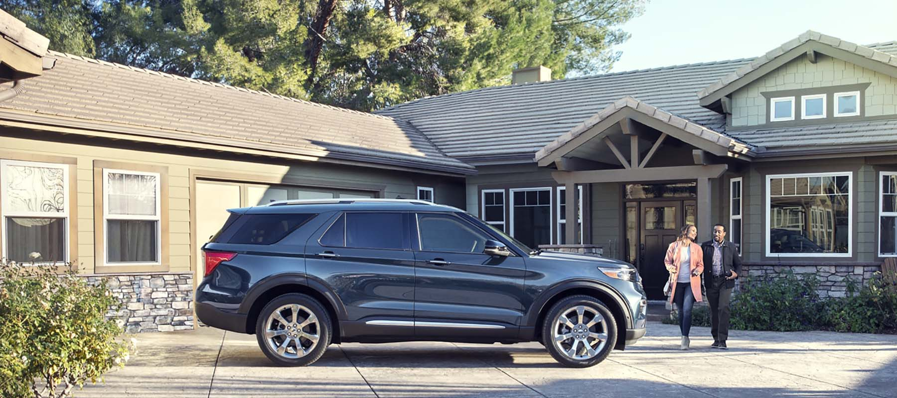 2020 Ford Explorer In Driveway