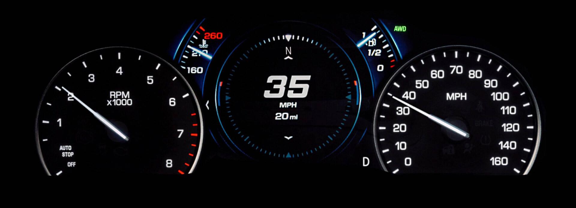 Cadillac XT5 Dashboard lights