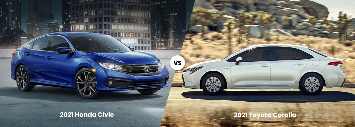 2021 Honda Civic vs. 2021 Toyota Corolla, corolla vs civic