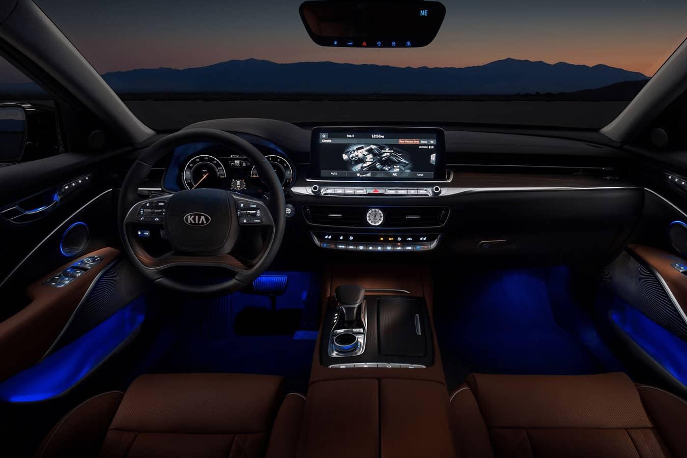 Kia front interior