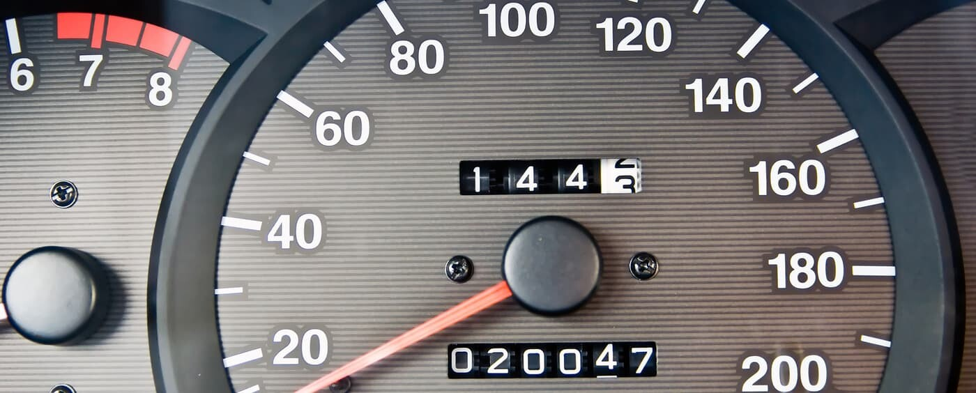 Displaying the mileage on an odometer