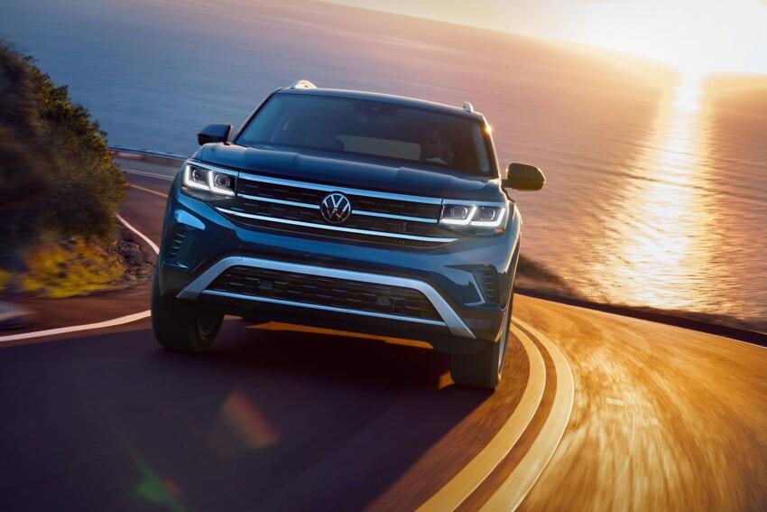 Volkswagen Atlas driving on road