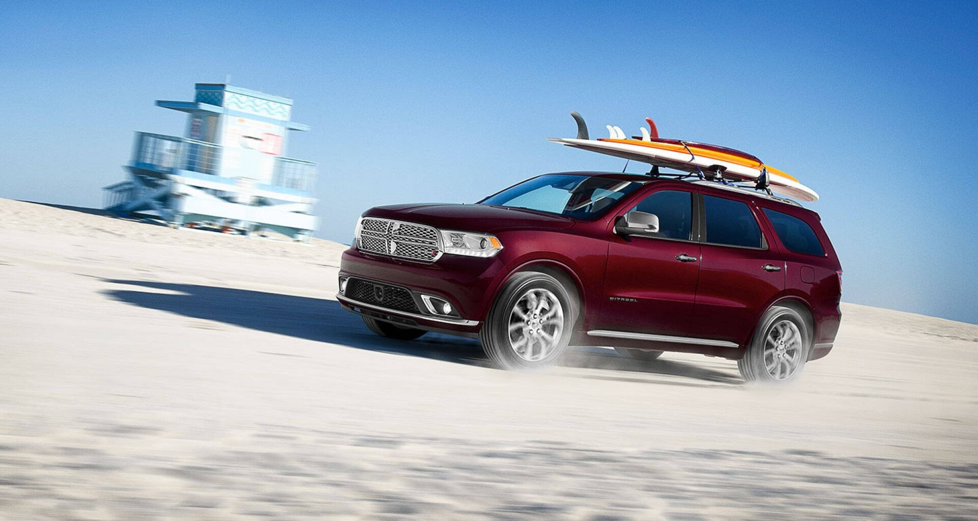 2020 Dodge Durango driving on a beach