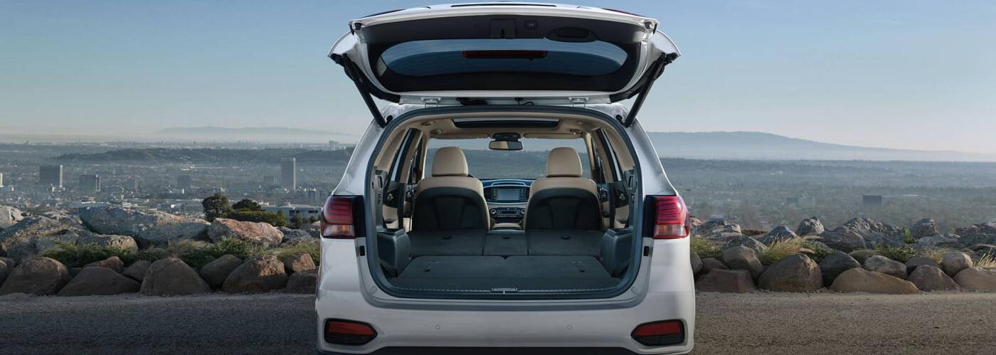 Kia Sorento with open trunk