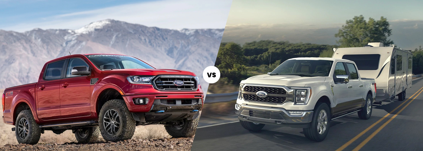 2021 Ford F-150 vs. 2021 Ford Ranger