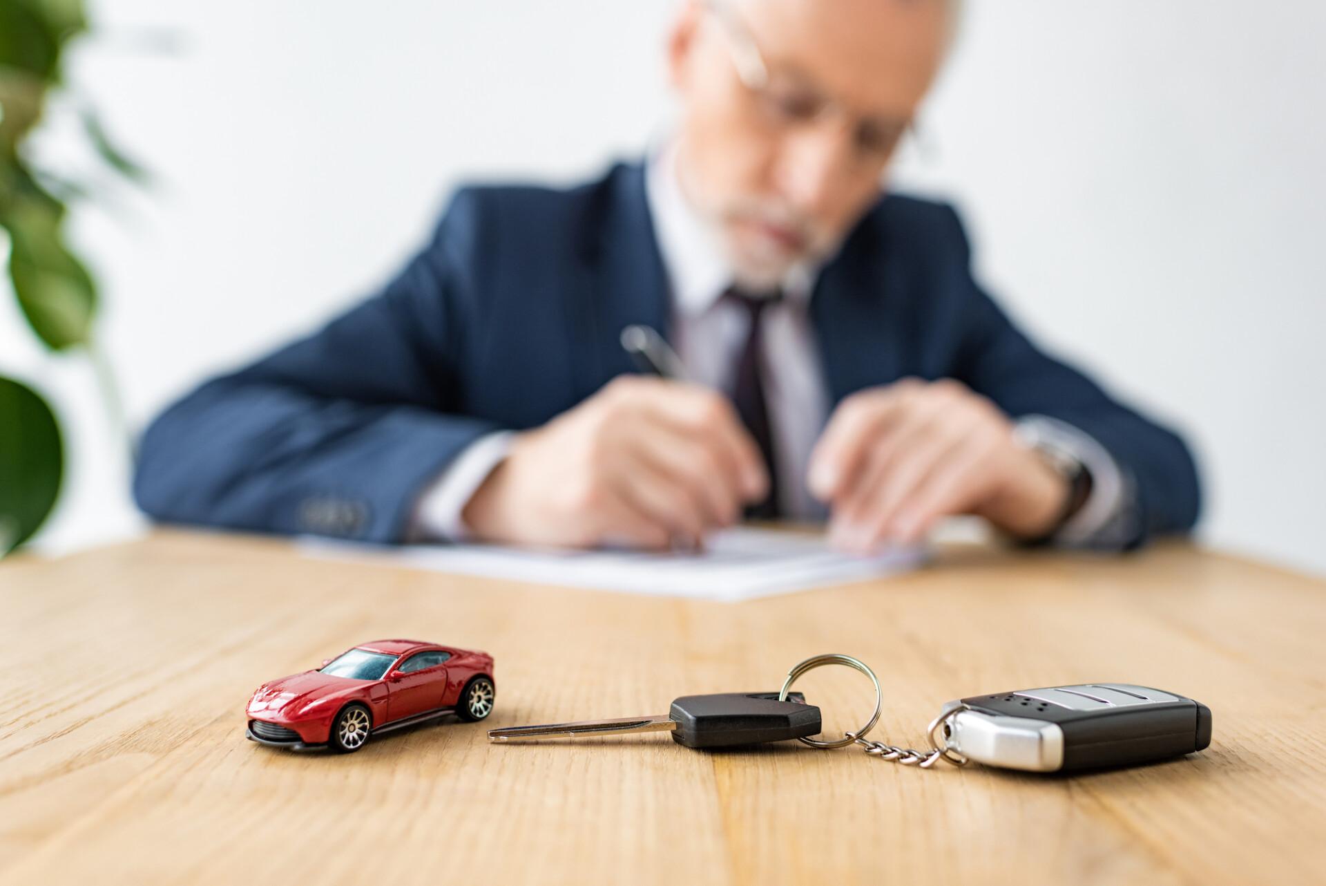 Tiny car with keys