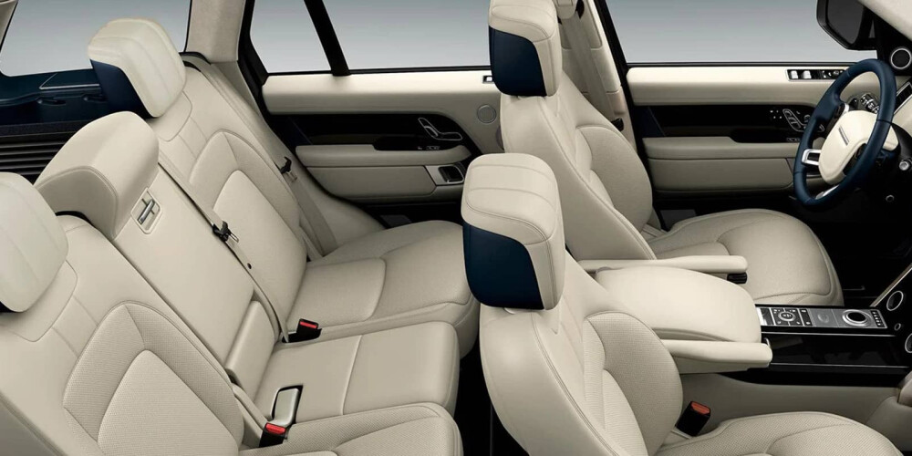 Interior view of Range Rover seating