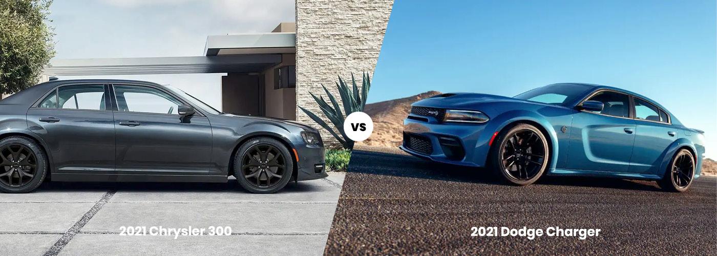 2021 Chrysler 300 vs. 2021 Dodger Charger