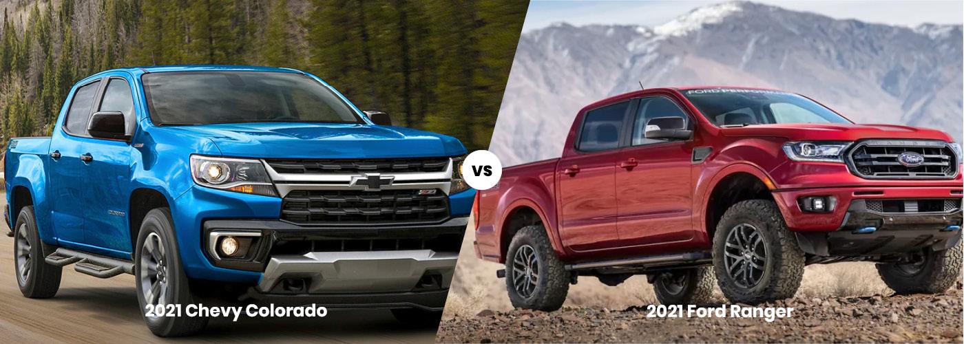 2021 Ford Ranger vs. 2021 Chevrolet Colorado