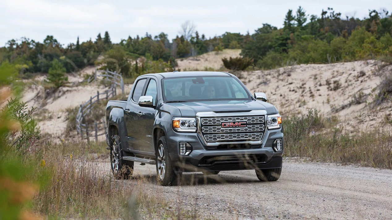 GMC Canyon driving on the road