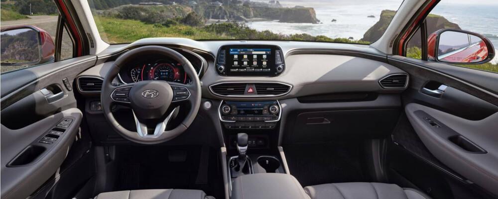 2020 Hyundai Santa Fe Interior Features Greenville Hyundai