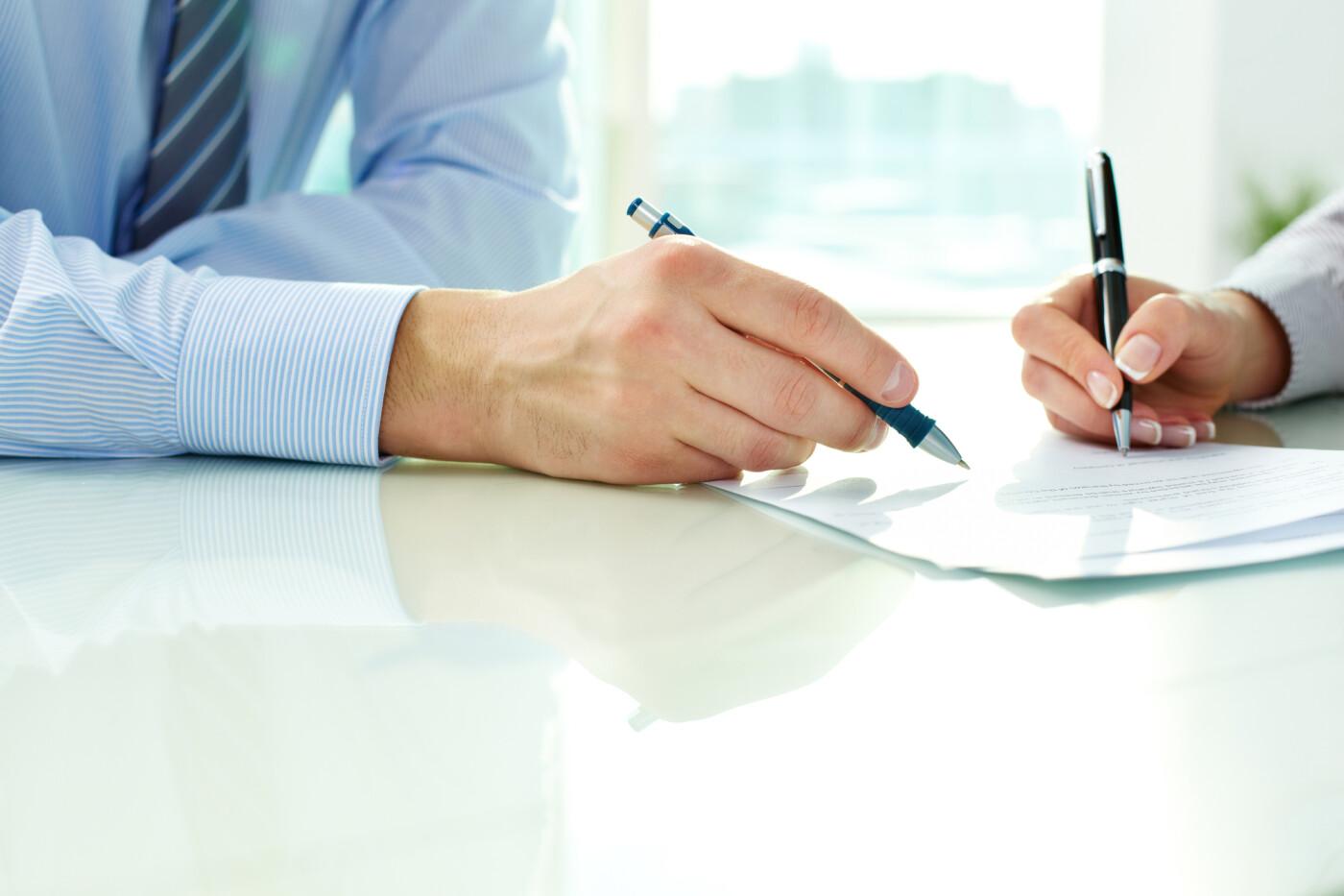 Finance Paperwork and Eyeglasses