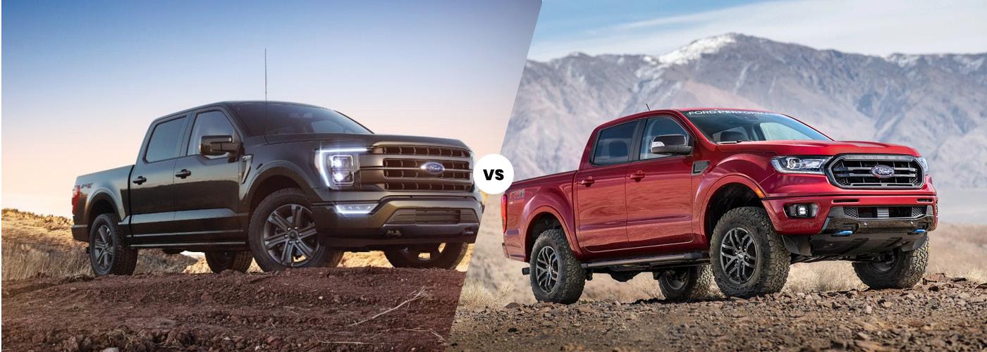 The 2021 Ford F-150 vs. 2021 Ford Ranger