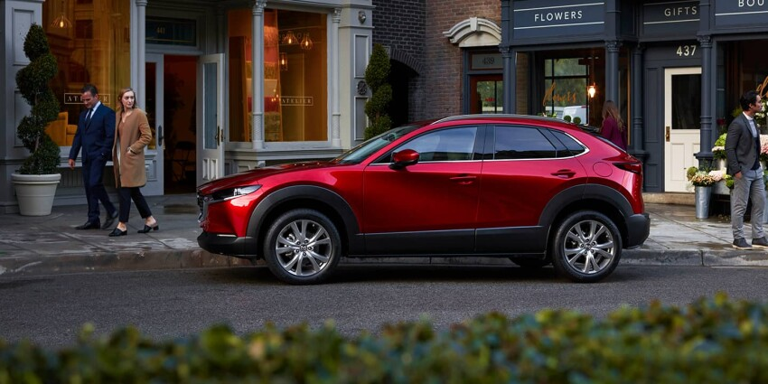 2020 Mazda CX-30 parked by a business