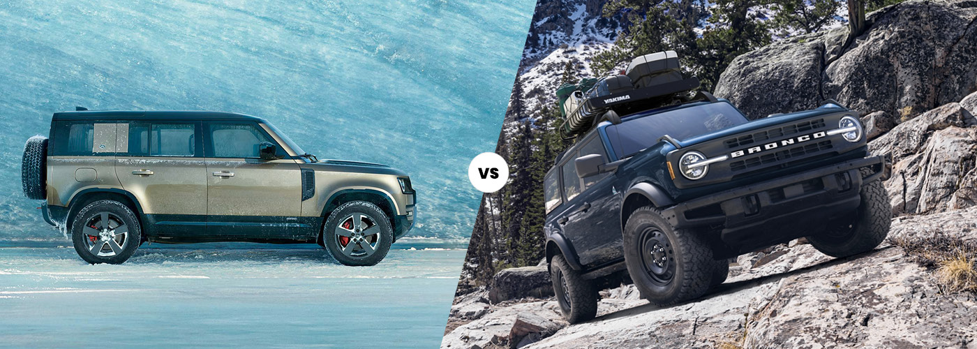 Land Rover Defender vs. Ford Bronco | SUV Comparison ...