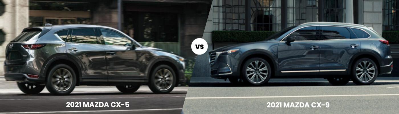 2021 Mazda CX-5 vs. CX-9