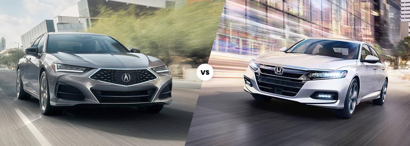 2021 Acura TLX vs 2021 Honda Accord