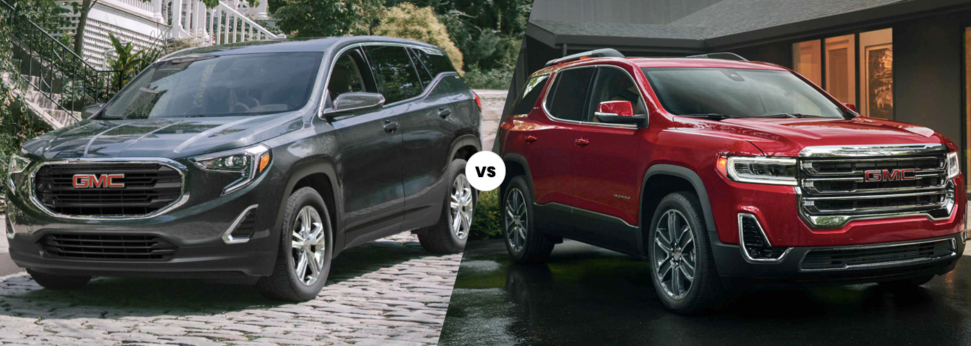 2021 GMC Terrain vs 2021 GMC Acadia