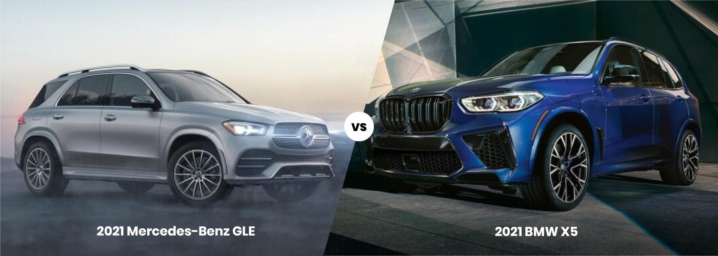 2021 Mercedes-Benz GLE vs. 2021 BMW X5